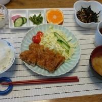 生活クラブの食材で作ったおいしい昼食、700円